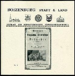 Baier, Hans-Jürgen (Hrsg.):  Boizenburg Stadt & Land. Im Wandel der Zeit, Beiträge zur Stadtgeschichte und Südwestmecklenburgs 1.