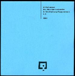 Mitteilungen des Museumsverbandes in Mecklenburg-Vorpommern 15. 2006.
