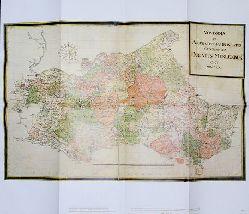 Übersichtskarte im Maßstab ca. 1:400 000 - sogenannte Kleine Generalkarte - Neueste und genaueste geographische Abzeichnung des Herzogtums Mecklenburg, 1721. Aus dem Mecklenburg-Atlas des Bertram Christian von Hoinckhusen (um 1700)