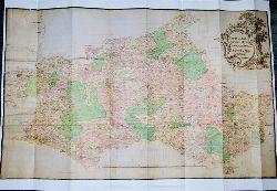 Übersichtskarte im Maßstab ca. 1:200 000 - sogenannte Große Generalkarte - Neueste und genaueste geographische Abzeichnung des Herzogtums Mecklenburg, 1721. Aus dem Mecklenburg-Atlas des Bertram Christian von Hoinckhusen (um 1700)
