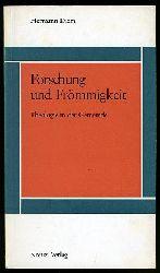 Diem, Hermann:  Forschung und Frömmigkeit. Theologie in der Gemeinde.