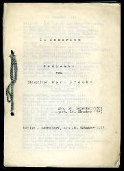 Brooke, Dora:  In Memoriam. Geichte von Diakonisse Dora Brooke. Geb, 31. Dzember 1861. Gest. 26. Oktober 1945.