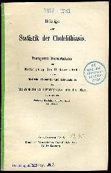 Bartels, Wilhelm:  Beiträge zur Statistik der Cholelithiasis.