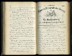 Kliefoth, A. und C. Bröcker:  Organ des Stenographischen Vereins für Mecklenburg und des Norddeutschen Stenographen-Bundes. 4. Jahrgang 1862. Nummer 1 bis 12.