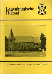 Lauenburgische Heimat. Zeitschrift des Heimatbund und Geschichtsvereins Herzogtum Lauenburg. Neue Folge. Heft 105.