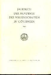 Jahrbuch der Akademie der Wissenschaften in Göttingen für das Jahr 1963.