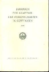 Jahrbuch der Akademie der Wissenschaften in Göttingen für das Jahr 1966.