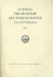 Jahrbuch der Akademie der Wissenschaften in Göttingen für das Jahr 1969.