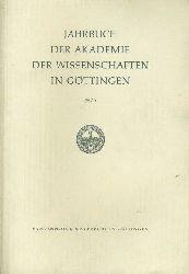 Jahrbuch der Akademie der Wissenschaften in Göttingen für das Jahr 1975.