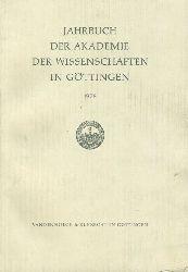 Jahrbuch der Akademie der Wissenschaften in Göttingen für das Jahr 1978.