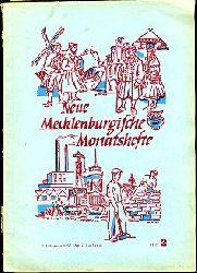 Neue Mecklenburgische Monatshefte. 2. Jahrgang, Hefte 1-4.