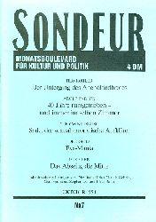 SONDEUR. Monatsboulevard für Kultur und Politik. No. 7. Oktober 1990.