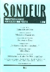 SONDEUR. Monatsboulevard für Kultur und Politik. No. 6. September 1990.