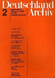 Deutschland Archiv. Zeitschrift für Fragen der DDR und der Deutschlandpolitik. 24. Jahrgang 1990 (nur) Heft 2.
