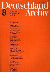 Deutschland Archiv. Zeitschrift für Fragen der DDR und der Deutschlandpolitik. 24. Jahrgang 1990 (nur) Heft 8.