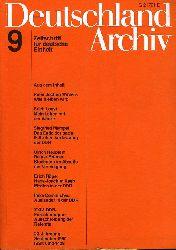 Deutschland Archiv. Zeitschrift für Fragen der DDR und der Deutschlandpolitik. 24. Jahrgang 1990 (nur) Heft 9.