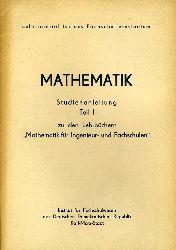 """Völkel, Siegfried:  Mathematik. Studienanleitung Teil 1 zu den Lehrbüchern """"Mathematik für Ingenieur- und Fachschulen"""" Lehrmaterial für das Fachschulfernstudium."""