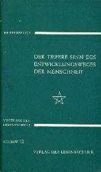 Hessenbruch, Helmut:  Der tiefere Sinn des Entwicklungsweges der Menschheit. Vorträge der Lebensschule. Schrift 12.