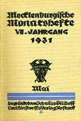 Mecklenburgische Monatshefte. Jg. 7 (nur) Heft 5. Mai 1931.