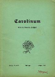 Piehler, Gustav Heinrich (Hrsg.):  Carolinum. Historisch-literarische Zeitschrift Nr. 54/55. Frühjahr 1970.
