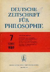 Deutsche Zeitschrift für Philosophie 37. Jg. Heft 7.