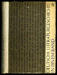 Geerdts, Hans-Jürgen:  Deutsche Literaturgeschichte in einem Band.