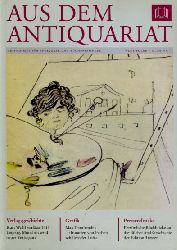 Aus dem Antiquariat. Zeitschrift für Antiquare und Büchersammler. Neue Folge 7. 2009. Nr. 1.
