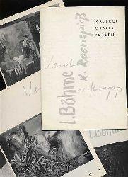 (Ausstellungsmappe) Lothar Böhme, Hans Vent, Klaus Rosenspiess, Siegrid Krepp. Malerei Grafik Plastik. Ausstellung im Kulturhistorischen Museum Magdeburg vom 14. Juni bis 31. August 1980.