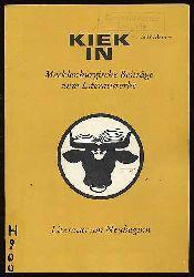 Literatur am Neubeginn. Kiek In. Mecklenburgische Beiträge zum Literaturerbe.