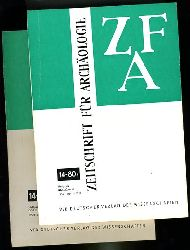 Zeitschrift für Archäologie. ZFA. Bd. 14 in 2 Heften.