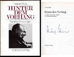 Paris, Herbert:  Hinter dem Vorhang. Ein halbes Jahrhundert Theater- und Lebenserinnerungen.
