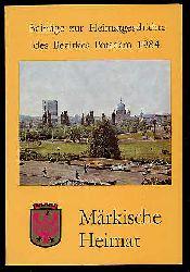 Märkische Heimat. Beiträge zur Heimatgeschichte des Bezirkes Potsdam. Heft 3.