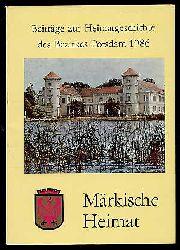 Märkische Heimat. Beiträge zur Heimatgeschichte des Bezirkes Potsdam. Heft 5.
