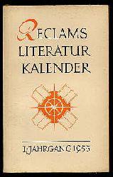 Reclams Literatur-Kalender 1. Jg. 1955