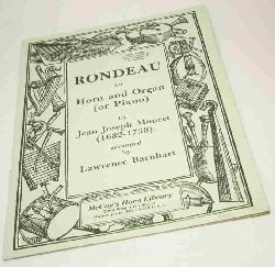 Rondeau for Horn and Organ (or Piano) by Jean Joseph Mouret (1682-1738).