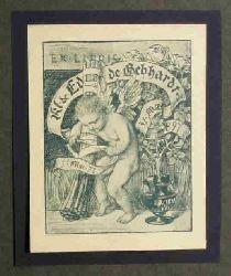 Gebhardt, Eduard  Ex Libris Ikl & Ed de Gebhardt.