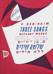 Ben-Haim, P.  Three Songs without Words