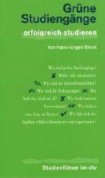 Hans-Jürgen Block  Grüne Studiengänge.