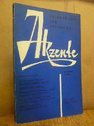 Rimbaud, Arthur / Georg Heym / Berthold Brecht / Ilse Aichinger u.a. / Höllerer, Walter / Hans Bender (Hrsg.),  Akzente - Zeitschrift für Dichtung / Heft 2/ April 1960/ 7. Jahrgang,