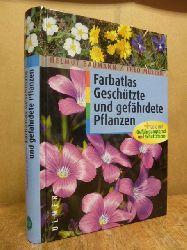 Baumann, Helmut / Theo Müller,  Farbatlas Geschützte und gefährdete Pflanzen + Liste mit Gefährdungsgrad und Schutzstatus,