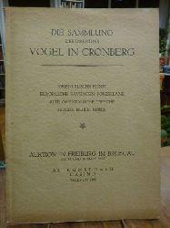 Auktionskatalog,  Die Sammlung des Direktors Vogel in Cronberg, (mit Schätzpreisliste), Auktion am 15. und 16. März 1927,