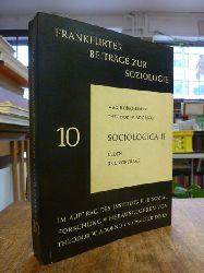 Horkheimer, Max / Adorno, Theodor W.,  Sociologica II - Reden und Vortr�ge,