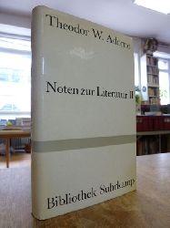 Adorno, Theodor W.,   Noten zur Literatur II (2),