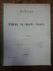Corneille, Pierre / Schmid, Paul,  Beiträge zur Erklärung von Corneilles Polyeucte, Abhandlung zum Jahresberichte der Fürsten- und Landesschule zu Grimma 1896,