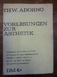 Adorno, Theodor W.,  Vorlesungen zur Ästhetik WS [Wintersemester] 68/69 / Zur Konzeption einer Musiksoziologie / Diskussion Adorno, Krahl u. a. / Marcuse zum Tode von Adorno / Editiorische Nachbemerkung,