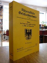 Verein für Familienforschung in Ost- und Westpreußen (Hrsg.),  Altpreußische Geschlechterkunde APG - Blätter des Vereins für Familienforschung in Ost- und Westpreußen, Neue Folge, Band 42, 60. Jahrgang 2012,