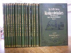 Weitzel, Karl Georg (Hrsg.),  Die Schule des Maschinentechnikers - Lehrgang für den Maschinenbau und die nötigen Hilfswissenschaften, 15 Bände (in 17 Büchern = alles),