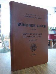 Europa / Schweiz / Schweizer Alpenclub (Hrsg.),  Clubführer durch die Bündner-Alpen, II. (2.) Band: Bündner Oberland und Rheinwaldgebiet, [1949/1951],