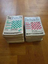 Schach / Tischbierek, Raj u.a. (Redakteur),  [Zeitschrift] Schach - Der königliche Ratgeber für jeden (späterer Untertitel: Die Zeitschrift mit Tradition und Anspruch), Konvolut von 62 Heften der Jahrgänge 1992-1998,