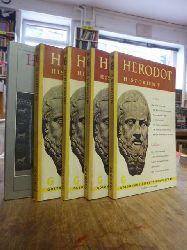 Herodot (Herodotus),  Historien, Gesamtausgabe in fünf Bänden, 5 Bände (= alles),  Übertragen und eingeletet von Eberhard Richtsteig,
